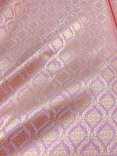 "Thai Silk Damask 40""W Fabric (KN)- Pink & Gold"