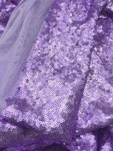Seaweed Sequin Fabric - Lavender Purple