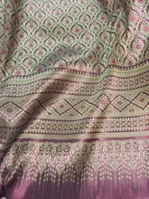 "Thai Silk Damask 40""W Fabric - Dark Red Gold"