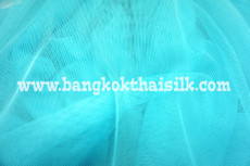 "Soft Net Stretch Tulle 60""W - TURQUOISE BLUE"