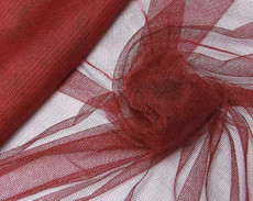 "Soft Net Stretch Tulle 60""W - Burgundy Red"