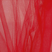 "Soft Net Stretch Tulle 60""W - Red"