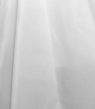 """Organdy Faux Silk Fabric 60""""W - White"""