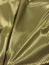"Thai Silk Damask 40""W Fabric - Brown Gold"