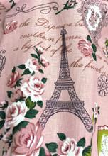 """Paris Rosette Print 100% Cotton Fabric 44""""W - Dusty Pink"""