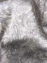 "Paisley Print Viscose Fabric 60""W - Gray Taupe"