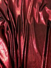 Metallic Pin Stripe Spandex 2Way Stretch Fabric - Dark Red