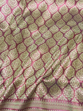"Thai Silk Damask 40""W Fabric (BP) - Burgundy Red & Gold"