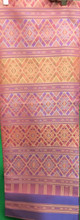 Traditional Thai Silk  Fabric 105x200 cm Pink Peach for Thai-Laos Skirt (Praewa)