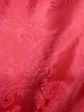 "Paisley Jacquard Viscose Fabric 60""W - Red"