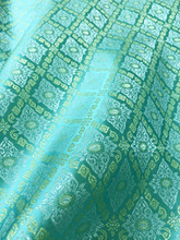 "Traditional Thai Silk Damask 60""W Fabric  - MINT GREEN"