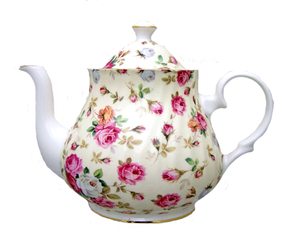 Heirloom Antique Roses 6 cup Bone China Teapot