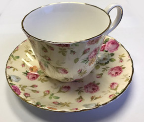 Antique Roses 5 oz Bone China cup and saucer imported from England
