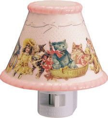 Pink ceramic 4 inch child's nightlight, by Gund