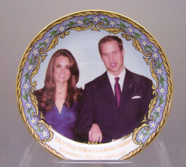 William & Catherine 6' English Bone China plate