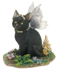 """Mystique"" 3.5"" Faerie Glen Black Fairy Cat by Munro"