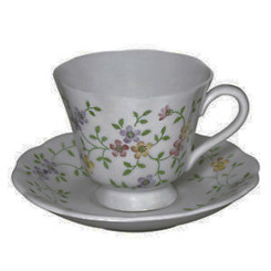 Andrea by Sadek 20813 Floral Pattern 5 oz Cup and Saucer