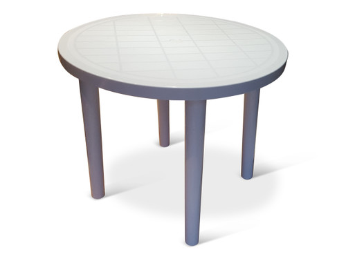 Plastic Round Bistro Patio Table Tessa Table Front Row Furniture