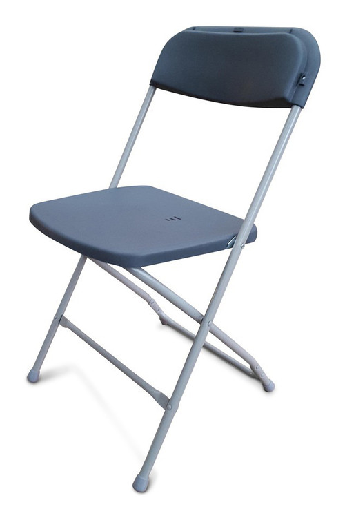 Folding Plastic Chairs Grey Front Row Furniture