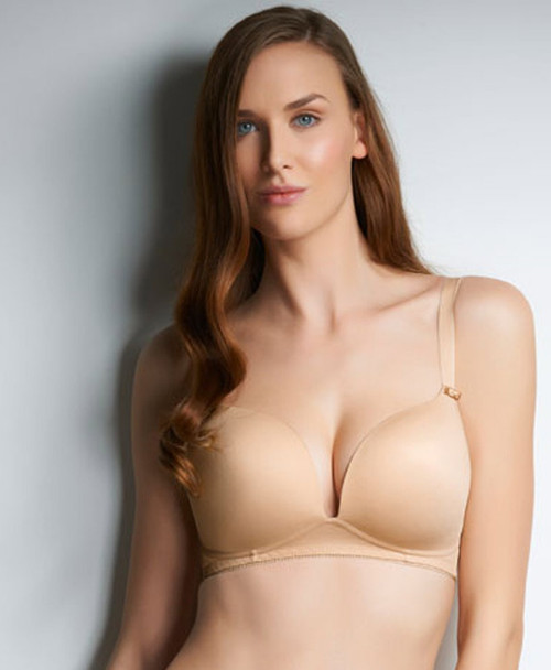 Freya Deco Wirefree Moulded Soft Cup Bra in Nude