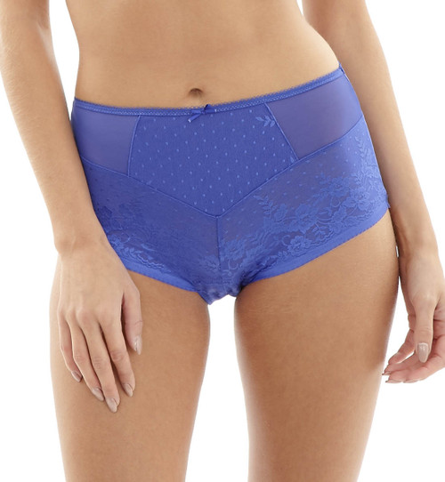Panache Olivia High Waist Brief Panty, Cobalt