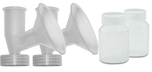 BPA Free Accessory Kit for use with Ameda personal and hospital grade breast pumps