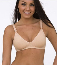 QT Intimates Cotton Nursing Bra, Nude