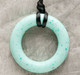Teething Bling Ring Pendant, Jade