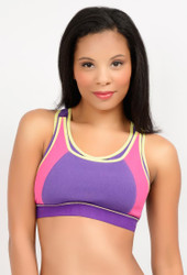LLLI High Impact Pull-over Sport Nursing Bra, Purple/Pink