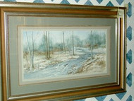 Spring Run Off Framed Original Watercolor by Audrey Hood Hampton
