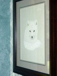 Arctic Fox Framed Original Pastel by the Porter Family