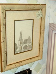 Church Scene Original Cross Stitch by Dorothy Semple