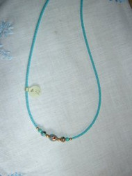 Necklace Hand Made with Cloisone Beads by Shannon Greiczek