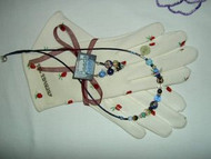 Necklace and Earrings Set Handmade with Blue Fancy Beads and Doves by Shannon Greiczek