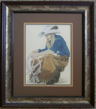 Annette Pollard Framed Pastel by The Porter Family