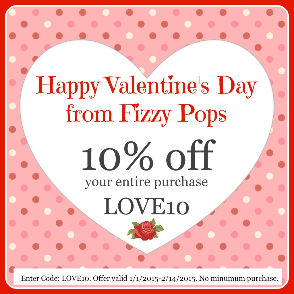 Happy Valentines Day from Fizzy Pops Fizzy Pops – Valentines Day Coupon