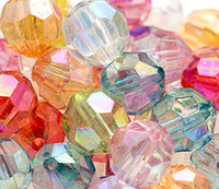 AB Clear Faceted Chunky Beads 12mm