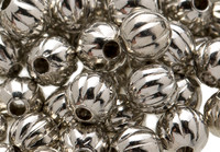 Silver Melon Ball Spacer Beads 3mm