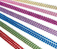 """Ball Chain Necklaces Colored 24"""""""
