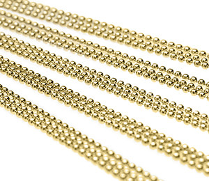"""Ball Chain Necklaces Brass 28"""""""