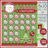 Christmas (Santa) Countdown ADVENT Printable DOWNLOAD