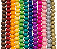 Colored Round Wooden Beads 12mm