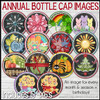 "NEW Annual Bottle Cap Image Collection, Monthly, Holiday, Seaonal, Birthday 1"" Bottle Cap Images Printable DOWNLOAD"