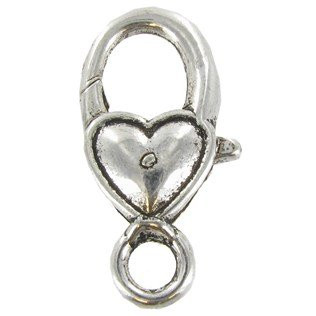 Heart Lobster Clasps (5 pack)