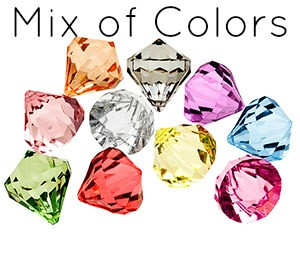 Bling Diamond Pendants Large MIX 30x35mm (10 pack)