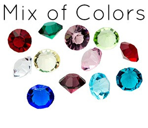 Diamond Gem Stone MIX 5mm (12 pack)