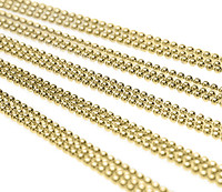 Ball Chain Necklaces Brass 24""