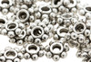 Silver Daisy Flower Spacer Beads 4mm
