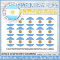 "Argentina FLAG 1"" Bottle Cap Images Printable DOWNLOAD"