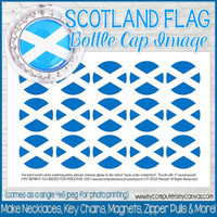 "SCOTLAND FLAG 1"" Bottle Cap Images Printable DOWNLOAD"